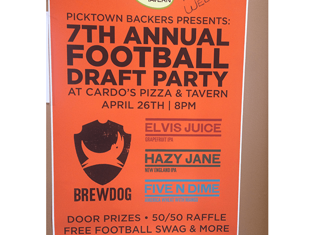 Thursday April 26th - Picktown Backers Draft Party